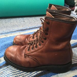 Vintage Vibram Land Rover Brown Leather Boots